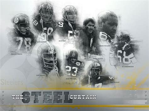 steele curtain the steel curtain pittsburgh steelers pinterest