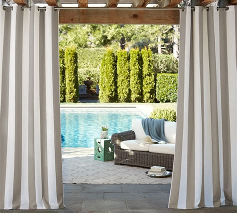 pottery barn outdoor drapes pottery barn outdoor curtain rods curtain menzilperde net