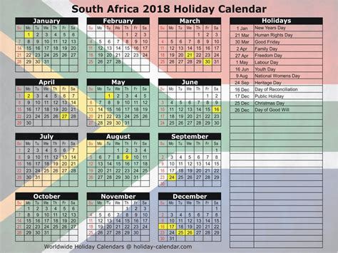 printable calendar 2018 south africa south africa 2018 2019 holiday calendar