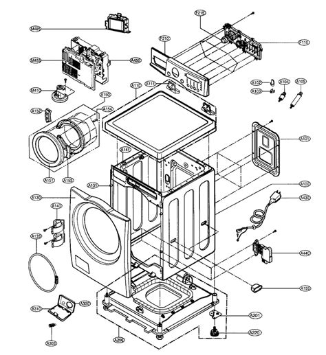 lg front load washer parts diagram lg washer parts model wm2496hsm sears partsdirect