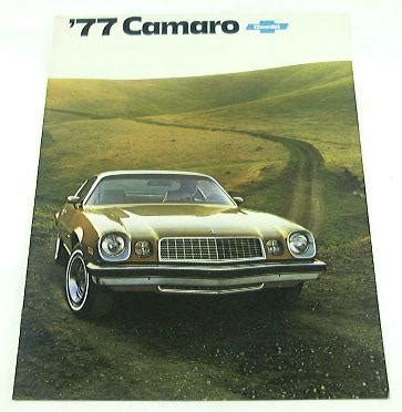 1977 chevy camaro parts find 1977 77 chevrolet chevy camaro brochure rally sport
