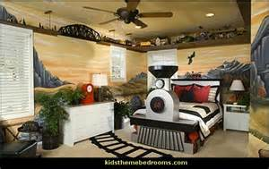Automotive Wall Murals decorating theme bedrooms maries manor train themed