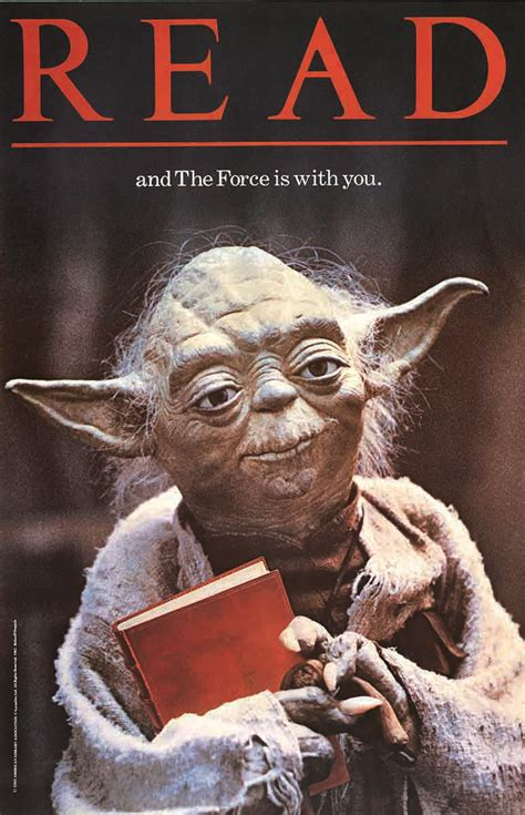 to read 80s yoda poster still guilting us to read starwars