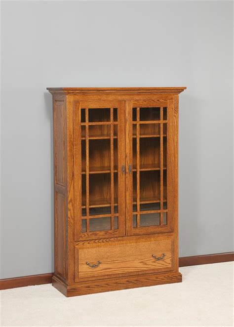 Solid Wood Bookcases With Doors Solid Wood Bookcases With Doors