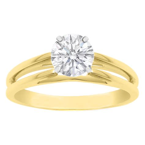 engagement ring solitaire cathedral split band engagement