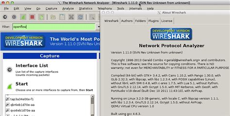 openflow tutorial github installing wireshark on linux for openflow packet captures