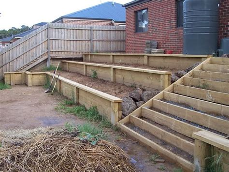 Diy Retaining Wall Sleepers by Best 25 Cheap Retaining Wall Ideas On Rock Pits Cheap Pit And Retaining