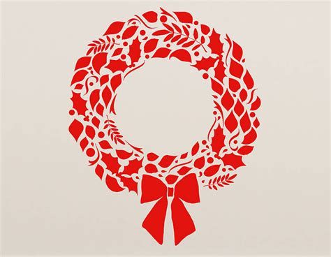 christmas wreath wall sticker contemporary wall stickers