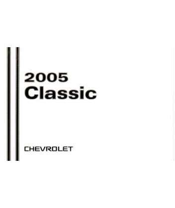 2005 chevrolet classic owners manual