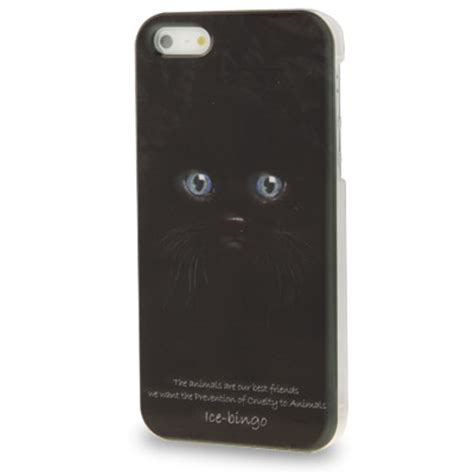 Animal Black For Iphone 4 4s animal series black cat pattern plastic for iphone 4