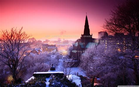cityscapes winter  widescreen background awesome