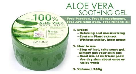 Aloe Soothing Gel pack 3w clinic aloe vera soothing gel 100 300g hermo shop malaysia