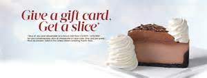 Cheesecake Factory Gift Card Deals - 2 free cheesecakes with 25 cheesecake factory gift card ftm