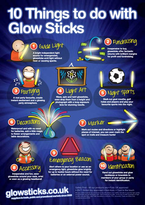 to do with 10 imaginative things to do with glowsticks