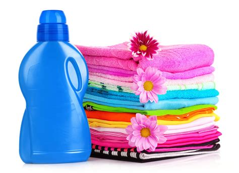 cloth laundry folded clothes and detergent laundry care professional
