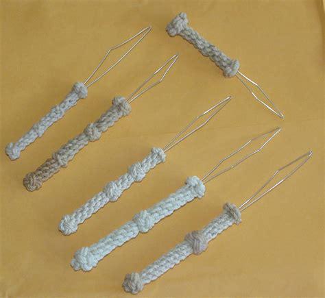 decorative needle case homemade line pullers varnished handles decorative