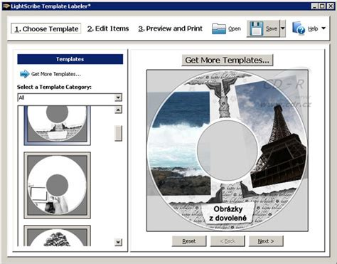 lightscribe template labeler freeware en download