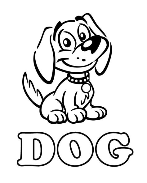 free coloring pages of dog templates