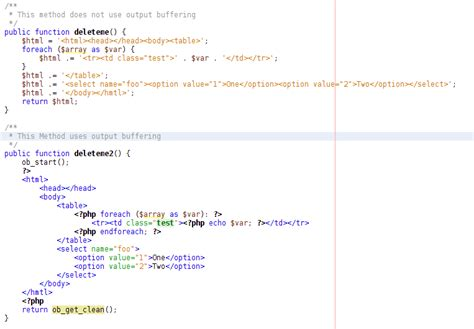 format html php output php output buffering with html ozone and programming