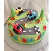 Lolo Fiesta Fabi&225n Autos Torta De Fiestas Cumplea&241os