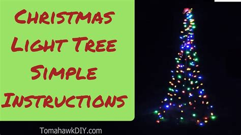 how to make christmas lawn decoration simple light tree