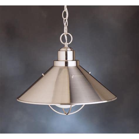 kichler pendant lights kichler lighting 2713ni seaside 1 light pendant in brushed