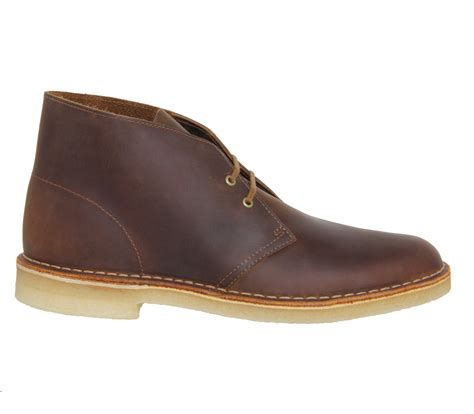 clarks boots lyst clarks desert boots in brown for
