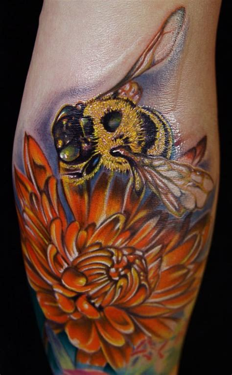 beehive tattoo awesome bumble bee