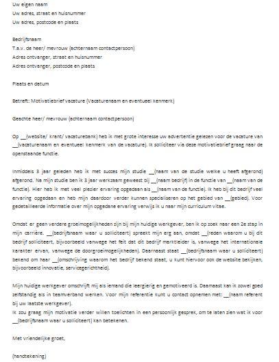Voorbeeld Motivatiebrief Open Sollicitatie Bureau 2018 opbouw motivatiebrief voorbeeld cv 2018