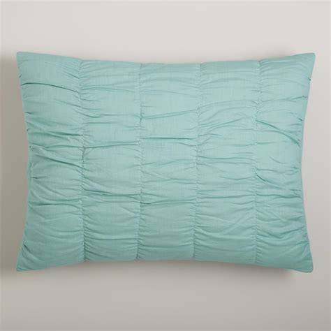 Ruched Pillow Sham by Harbor Blue Ella Ruched Pillow Shams Set Of 2 World Market