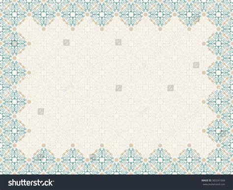 arabic pattern border vector islam pattern border frame seamless stock vector