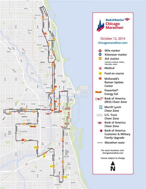 chicago map by race chicago marathon map chicago marathon race map united