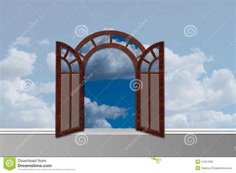 le porte cielo la porte au ciel avec des portes s ouvrent illustration