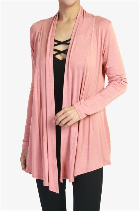 long drape front cardigan themogan women s long sleeve open front cardigan premiun