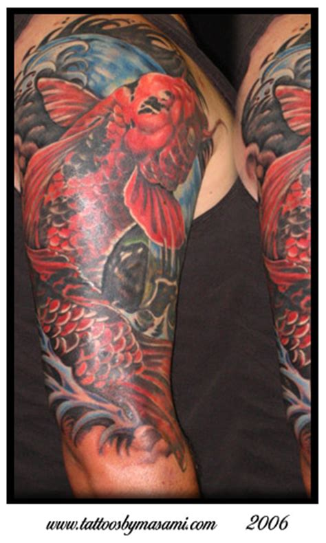 koi gemini tattoo koi sleeve by masami pinky inagaki tattoonow