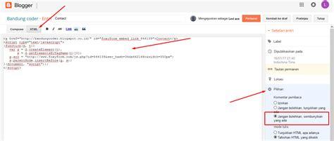 membuat link halaman html membuat halaman contact pada blog bandung coder