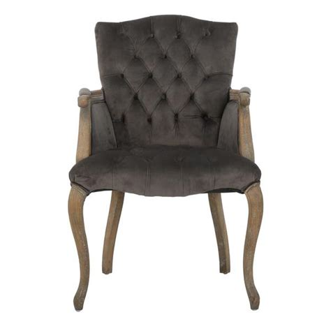 christopher home moira grey velvet arm dining chair