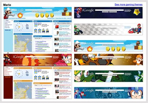 Google Themes And Games | igoogle gets video game themes popsugar tech