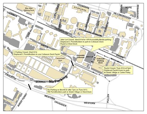 ncsu cus map traffic and parking for president s visit nc state news nc state