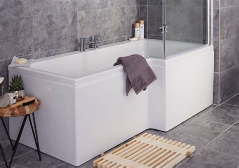 wide shower bath baths shower baths corner baths diy at b q