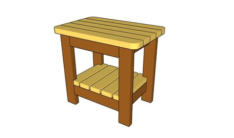 side table plans outdoor side table plans howtospecialist how to build