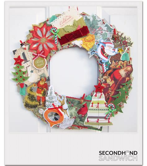 how to make a card wreath secondhandsandwich redeux coaster wreath from