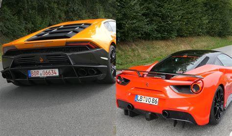 Lamborghini Vs Exhaust Battle 488 Gtb Vs Lamborghini Huracan