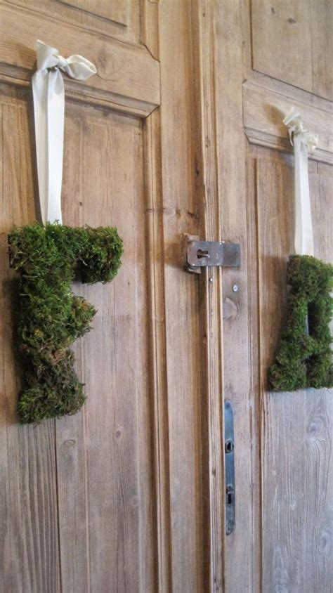 wedding decor custom monogrammed moss letter by