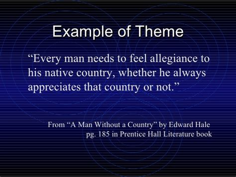 universal themes in literature exles literary elements theme