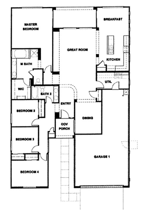 Ordinary Ranch Style Home Plans With 3 Car Garage #6: Verde-ranch2135-4.gif