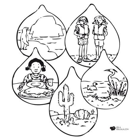 imagenes para colorear gotas de agua gotas agua paisajes dibujalia dibujos para colorear