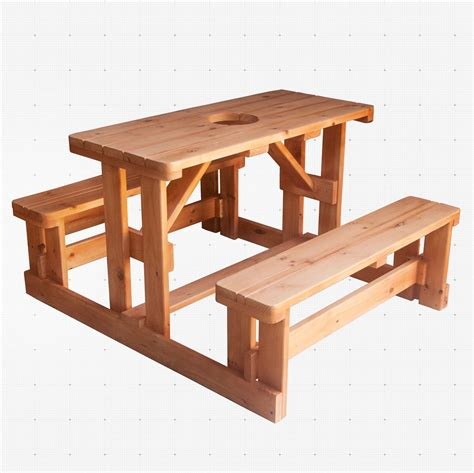 hardwood picnic bench 4 person solid wood picnic bench extreme kitchens