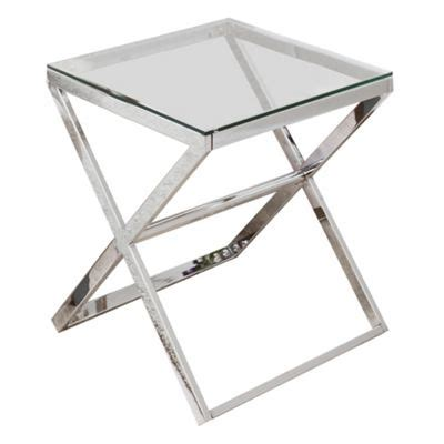Glass And Chrome Side Table Anikka Chrome And Glass Side Table Mysmallspace