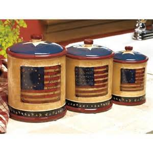 Canisters Kitchen Decor by Americana Patriotic Kitchen Canister Set By